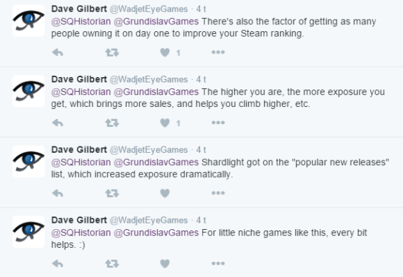 Dave Gilbert on pre-orders